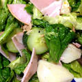 シャキシャキレタスとハムのサラダ