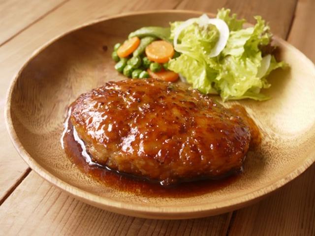 豚ひき肉の照り焼きハンバーグ