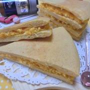 小麦粉・砂糖不使用☆ 大豆粉でどら焼き風かぼちゃサンド