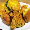 鶏肉と野菜のカレー風フリッター