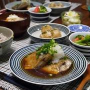 さばのつゆだく煮 と 里芋の竜田揚げ。