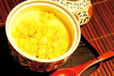 焼きもろこしの茶碗蒸し、とうもろこしとトマトのはんなり炊きこみご飯、モロヘイヤのすり流しの美肌膳