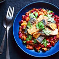鯖のガラムマサラソテーの豆とトマトの食べるソース【スパイス大使】
