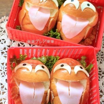 ハロウィン★オバケサンドイッチ