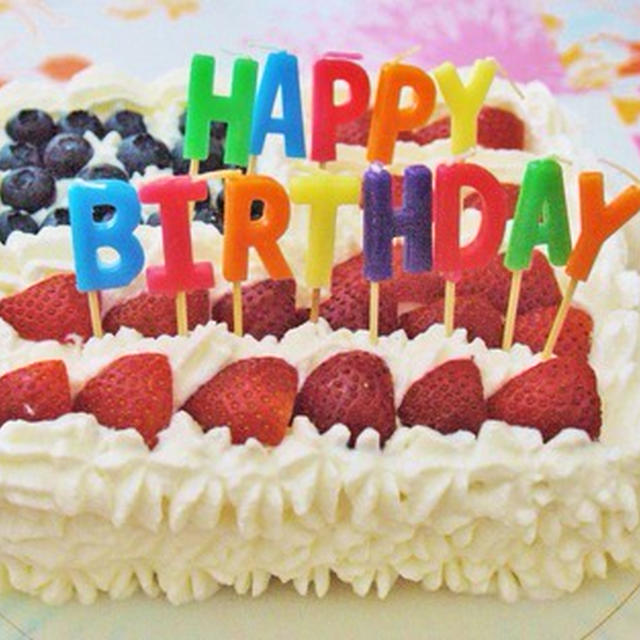 お誕生日に。フラッグ・ケーキ。