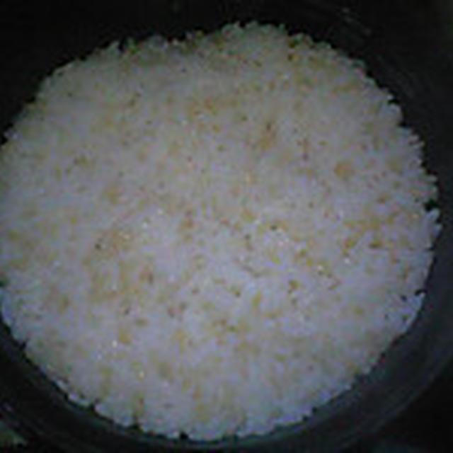 湯立てで白米(925)。。。北海道石狩平野雨竜町産特別栽培米ゆめぴりか・白米(あいざわ米店)と茨城県産うまかっぺコシヒカリ玄米・新米(あいざわ米店)