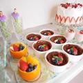 オレンジの器にフルーツの盛り合わせ♪パーティーおもてなしに♡ by manaママさん