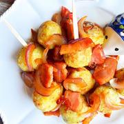 揚げ里芋の、ベー玉にんにく醤油ソテー絡め。(褒められ和風ジャーマンポテト) by 青山 金魚さん