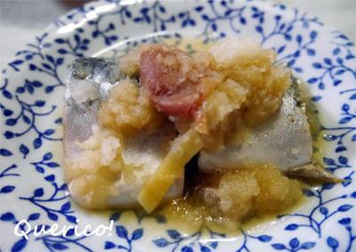 梅でさっぱり、簡単!鯖のおろし煮