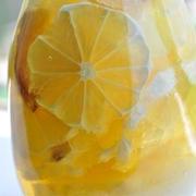 自家製シロップでレモンスカッシュ