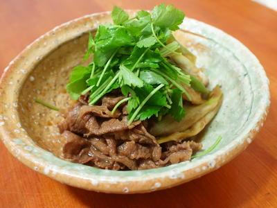 牛すき煮とこんにゃくの炒め煮