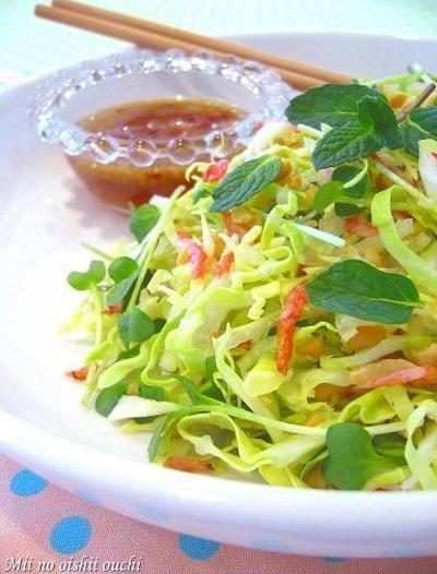 たっぷりキャベツのベトナム風サラダ♪