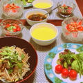 韓国風炊き込みご飯、    クレソンのジェノベーゼ