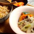 きのこの煮びたし柚子こしょう風味とじゃこ焼飯 by ひろりんさん