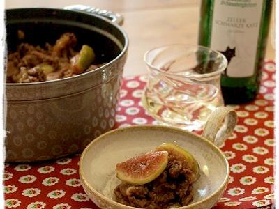 >  【 だいぶ前に作ったイチジクと豚肉のバルサミコ炒め 】  by uiさん