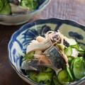 〆鯖ときゅうりの和え物