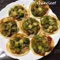餃子の皮で簡単!アボカドのカレー風ミニピザ by quericoさん
