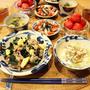 海藻三昧のヘルシーおいしー晩ご飯♡石巻の味
