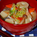 カラダがぽかぽか♪生姜具だくさん味噌汁