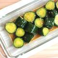 簡単常備菜レシピ。やみつききゅうりのごまだれ(中華風漬物)
