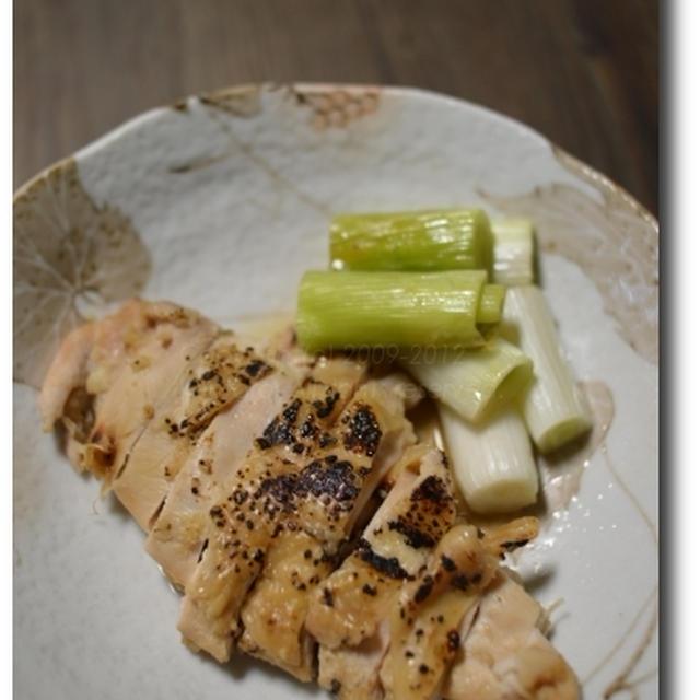 鶏むね肉の醤油麹蒸し焼き