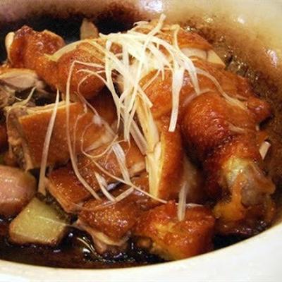 鮑汁雞│鶏肉の金華ハムスープ炊き