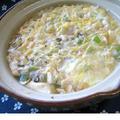 食べ過ぎた翌日は 塩こぶダシの豆腐入り雑炊