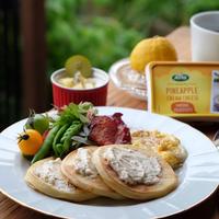 アーラパイナップルクリームチーズで爽やかなパンケーキモーニング!
