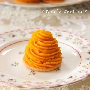 オーブン不要!簡単「かぼちゃ」のモンブラン風レシピ