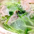 野菜がた~っぷり*長ネギと水菜の豚しゃぶ
