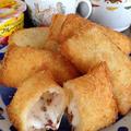 マシュマロの揚げパンです☆
