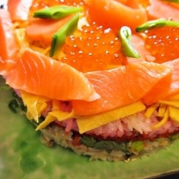 ちらし寿司ケーキ&初節句と珠算大会