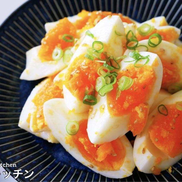 簡単すぎ!ゆで卵で作る最強の激ウマおつまみ!『ゆで卵のごま油ナムル』の作り方