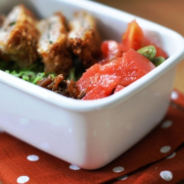 トマトと枝豆のマリネのレシピ。