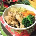 圧力鍋で♪手羽元と白菜のローリエ醤油煮込み