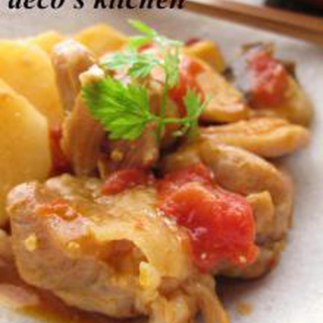 我が家の定番♪ 鶏肉と長芋の、生姜トマト味噌煮込み。 + うれしい報告。