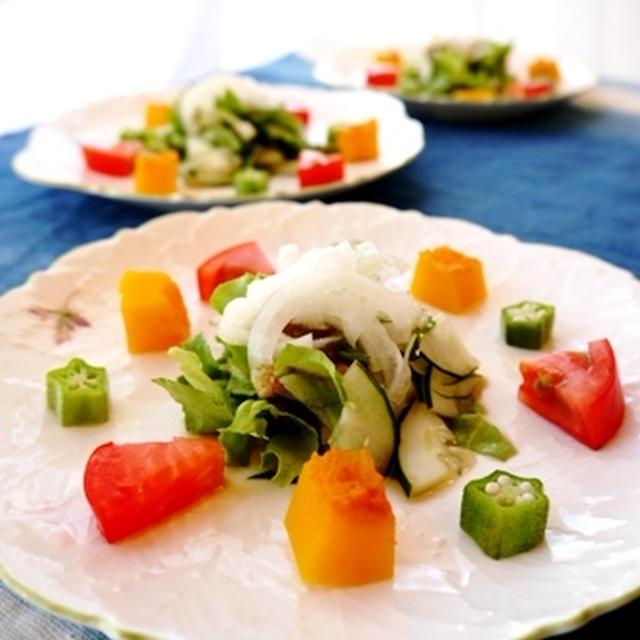 ただいま。。。の夕食とカフェ風サラダ