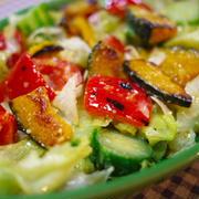 焼きパプリカ&カボチャのっけサラダ