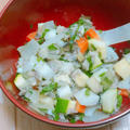 【ヘルシー】鯖缶とコロコロ野菜のさっぱりサラダ
