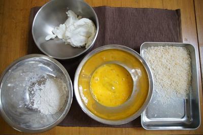 webで見たので「水切りヨーグルトのフライ」を作って食べてみた!