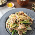 (レシピ)豚こまと白菜の七味マヨ炒め