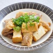 【作り置きおかず】味付け簡単!鶏肉と厚揚げの炒めもの