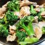 豚肉とブロッコリーのオイマヨ炒め