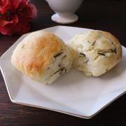 米粉と薄力粉比較♪ちぎりパン風ヨーグルトスコーン ローズマリー風味 エンゼル型とパウンド型
