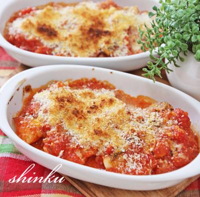 簡単*鱈のトマト煮込みチーズ焼き