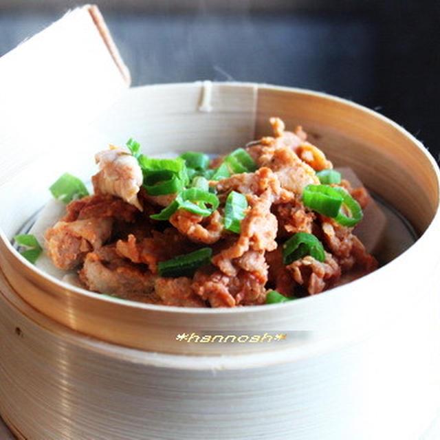 豚肉と里芋の蒸しもの~2種類の味♪