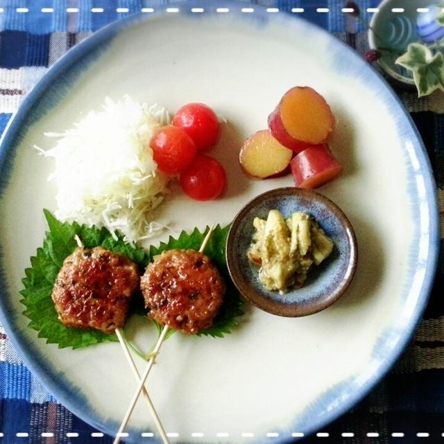 常備菜消費♡時短・簡単青紫蘇た~っぷりつくねバーグで朝からガッツリモーニング( *´艸`)