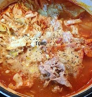 野菜が沢山取れる♪ トマト缶 de ミネストローネ鍋