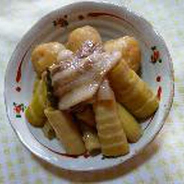 淡竹の料理さっそく作りました