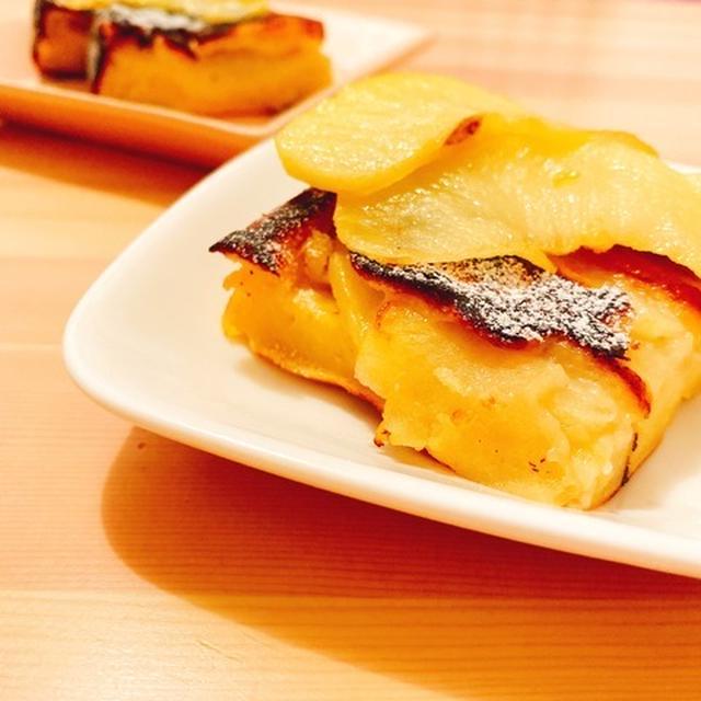 【グルテンフリー】卵焼き器で簡単!りんごのとろけるカスタードケーキ
